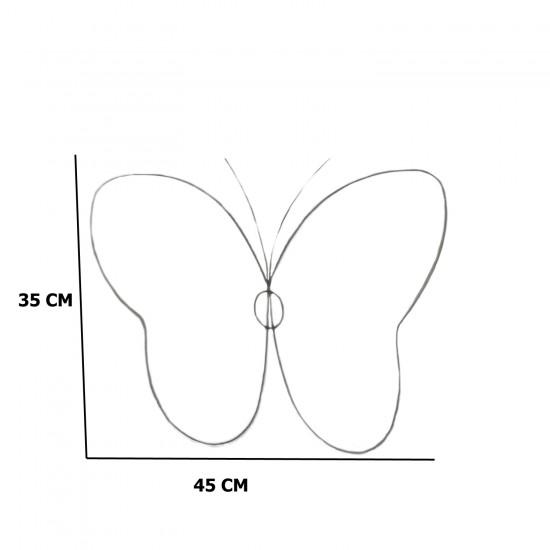 Metal Makrome Kalıbı Kelebek Model 45X35 CM