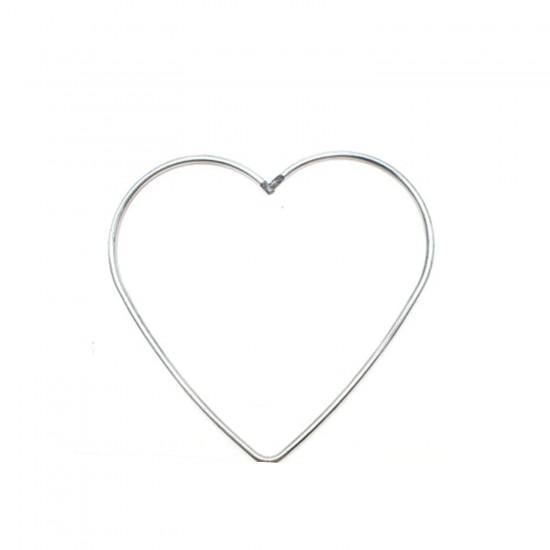 Metal Makrome Kalp  Makrome  Kalıbı 30 CM