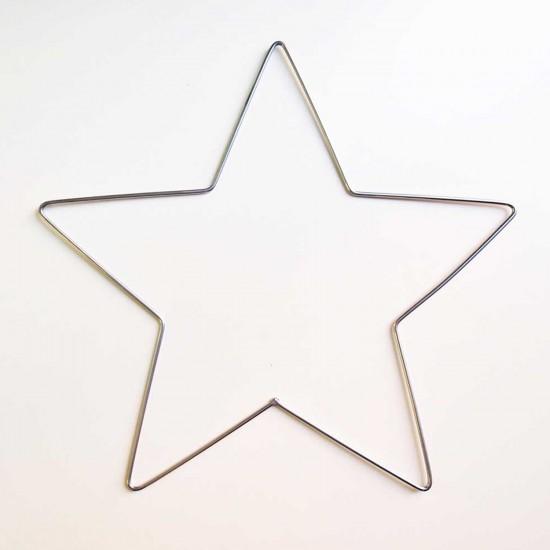Metal Makrome Yıldız  Makrome  Kalıbı 35 CM