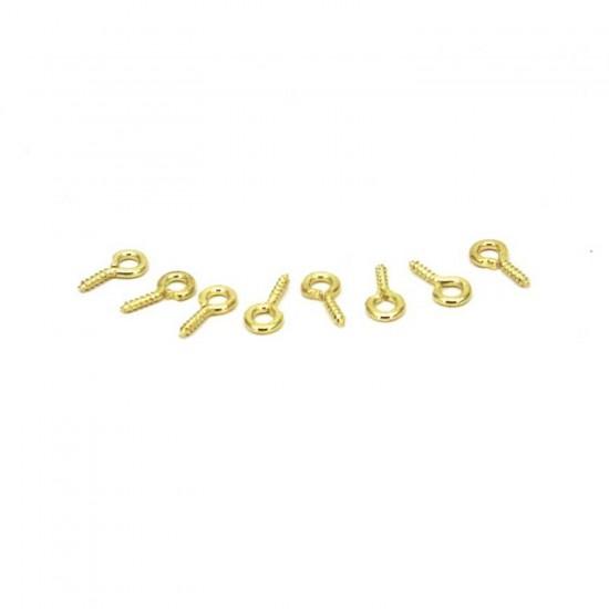 Metal Taki Ve Obje Halkası Vidalı  1 CM  (20 Adet)