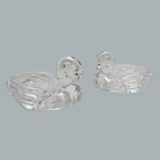 Mumluk Kuğulu Plastik Şeffaf (10 Adet)
