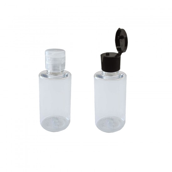 Plastik Silindir Kolonya Şişesi Flip Top Kapaklı 50 CC (10 Adet)
