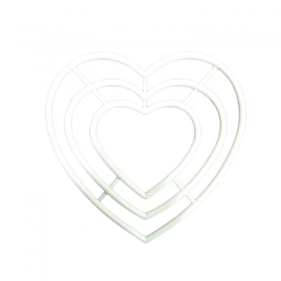 Plastik Makrome Nakış El Ve İşi Kasnağı Kalp Şekilli 3 Lü Set