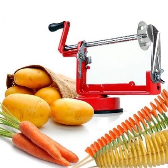 Spiral Patates Dilimleyici  Cips Yapma Makinesi