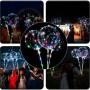 3 Fonksiyonlu Işıklı Balon Transparent Led Şeffaf Balon Çubuklu
