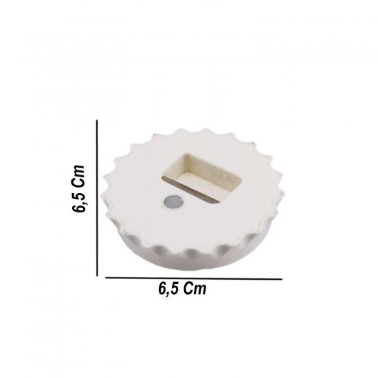 Açacak Yuvarlak  Beyaz Plastik (10 Adet)