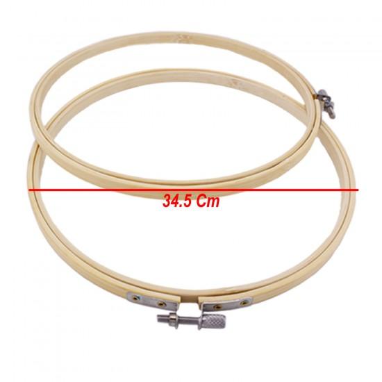 Ahşap Kasnak Natural Nakış Elİşi Kasnağı Vidalı Model NO10 34.5CM