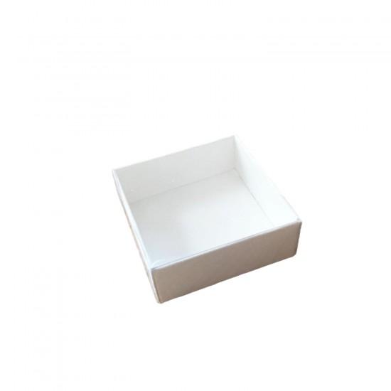 Asetat Kapaklı Karton Kutu 6X6X2.5 CM (50 Adet)