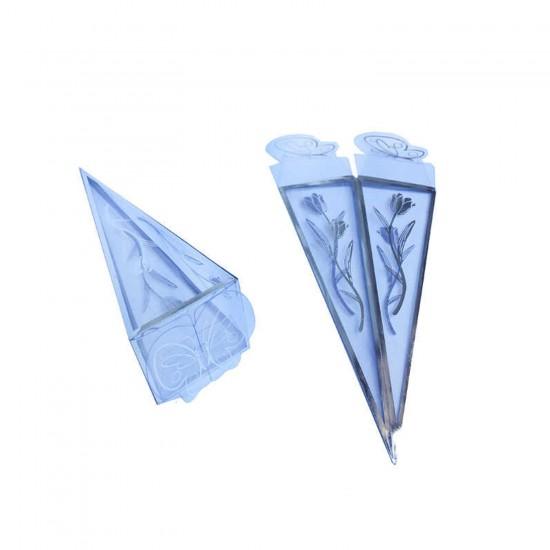 Şeker Külahı Asetat Külah Piramit Modeli Laleli (50 Adet)