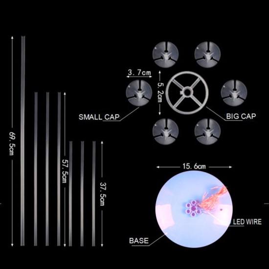 Ayaklı Balon Süsleme Standı Işıklı Model 7 Çubuklu Set 75 CM
