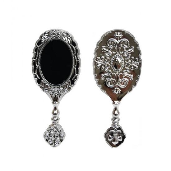 Ayna Güllü Oval Plastik Altın/Gümüş (25 Adet)
