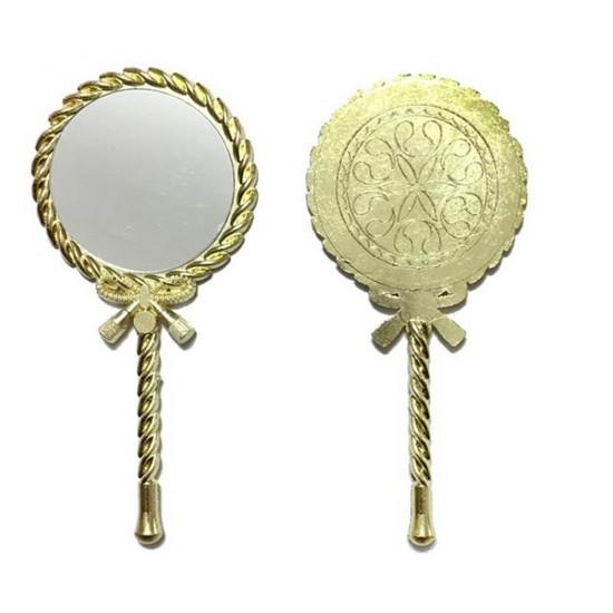 Ayna Metal Burgulu Asetat Kutuda Altın/Gümüş (20 Adet)
