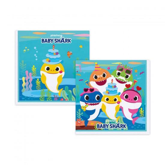 Baby Shark Temalı Kağıt Peçete 33X33 CM (16 Adet)