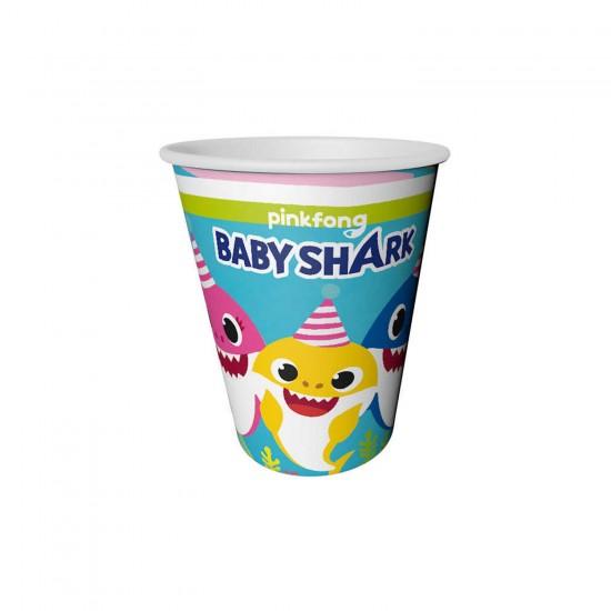 Baby Shark Temalı Karton Bardak 220/240CC (8 Adet)