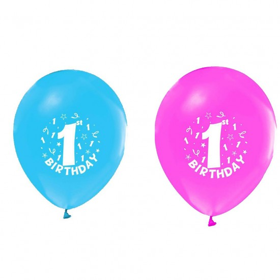 Balon 1+1 Hapy Birthday 1 Yaş (20 Adet)