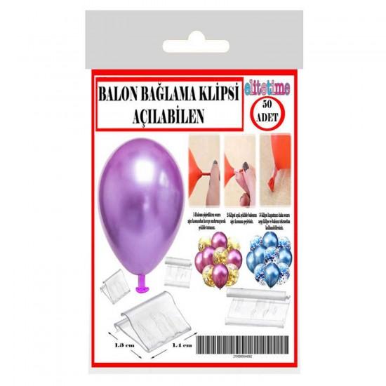Balon Bağlama Klipsi Açılabilen (Balon Bağlama Aparatı) (50 Adet)