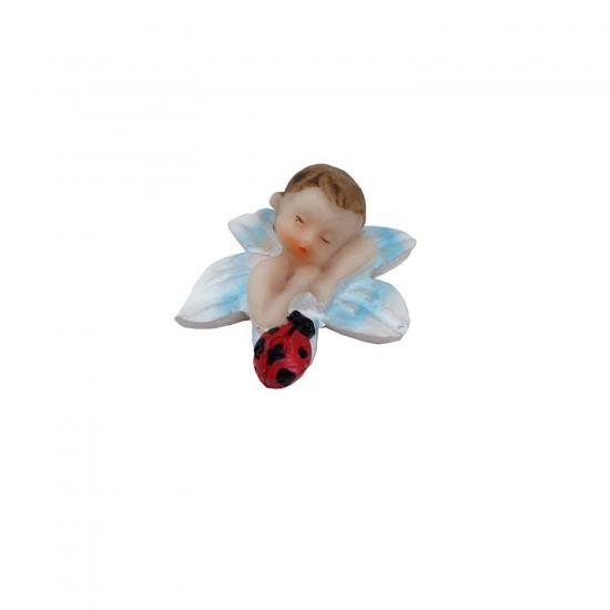 Bebek Şekeri Biblosu Bebek Çiçekli Ve Uğur Böcekli (50 Adet)