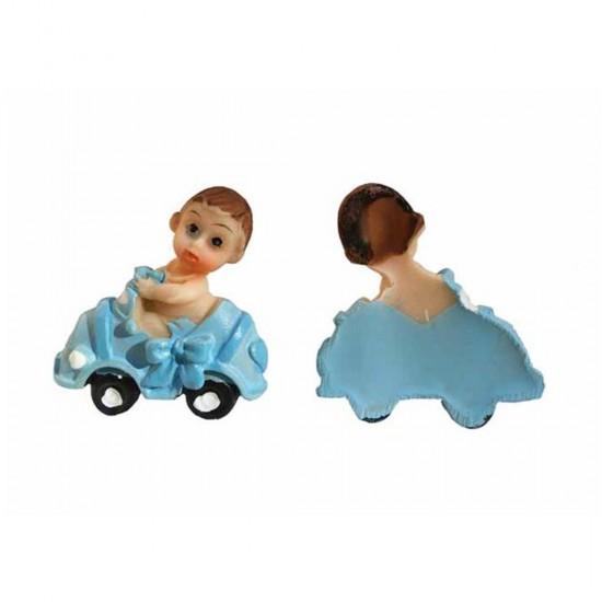 Bebek Şekeri Biblosu Arabada Magnet Modeli (50 Adet)