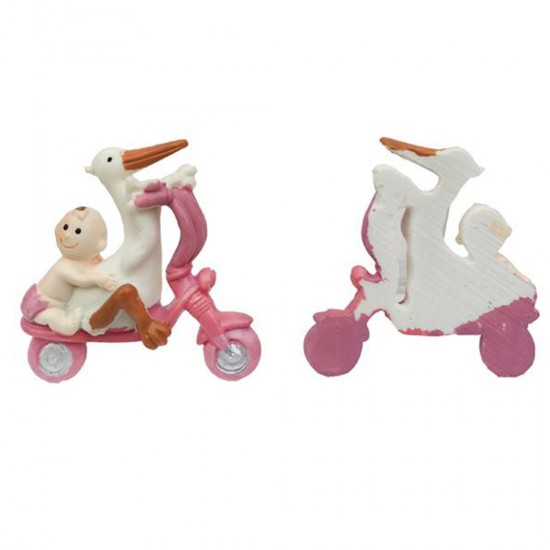 Bebek Şekeri Biblosu Bisikletli Leylekli Magnet (20 Adet)
