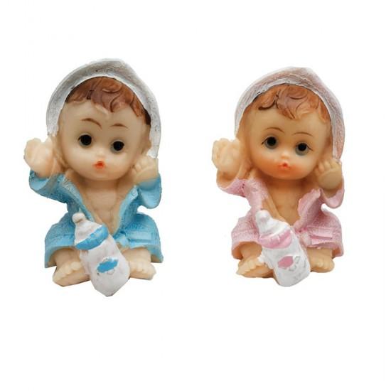 Bebek Şekeri Biblosu Bebek Bornozlu Oturan (20 Adet)
