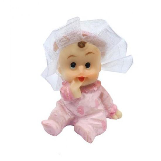 Bebek Şekeri Biblosu Bebek Kafası Tüllü (20 Adet)