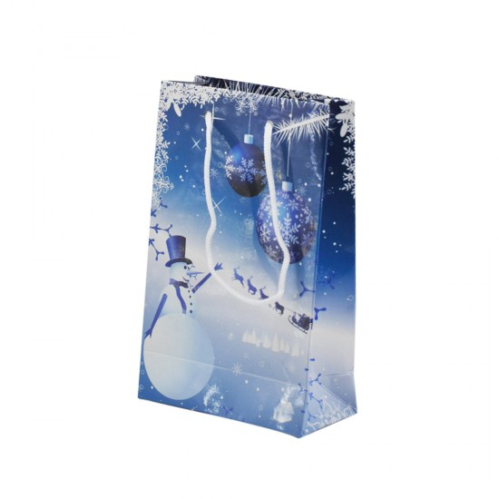 Karton Çanta Yılbaşı Temalı 11X17 Cm (25 Adet)