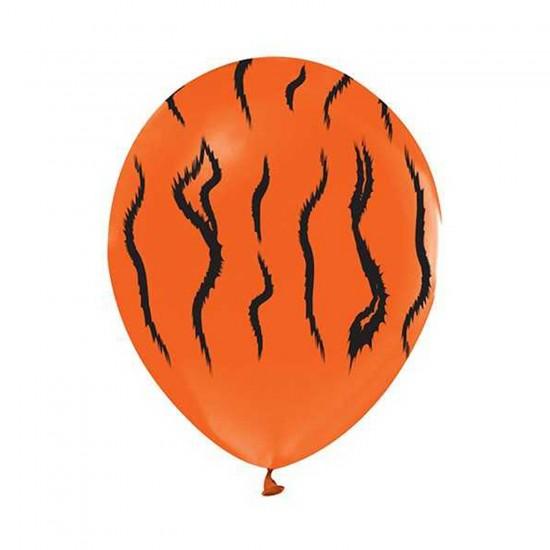 Çepeçevre Çizgili Balon 12 Inç Zebra/ Kaplan Baskılı (20 Adet)