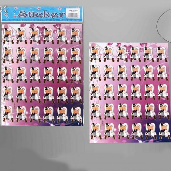 Gelin Damat Sticker Yapışkanlı (300 Adet)
