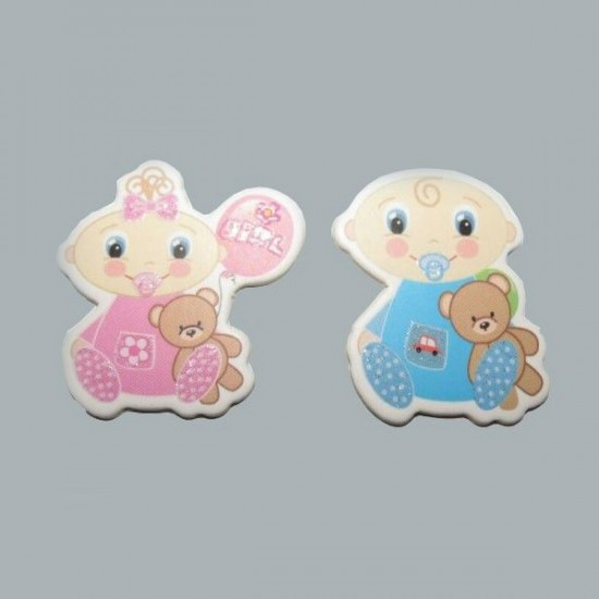 Sticker Bebek Ayıcıklı Oturan Karton (50 Adet)