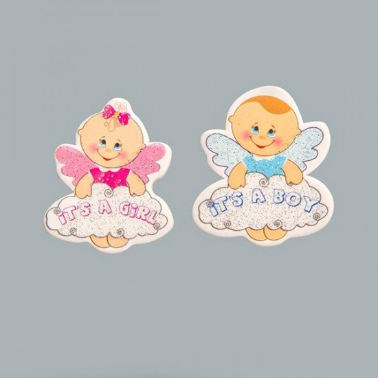 Sticker Bebek Bulutlu Melek Karton (50 Adet)