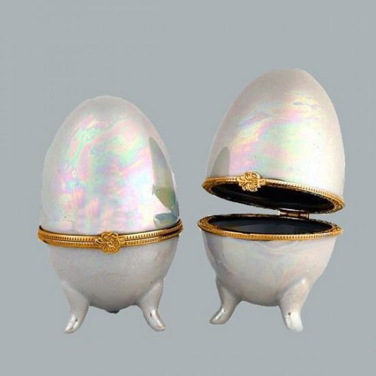 Yumurta Porselen Sedefli Küçük (10 Adet)