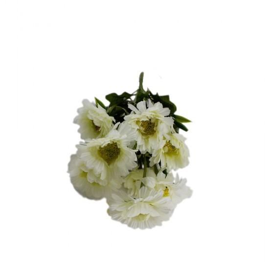 Çiçek Gelin El Buketi Papatya Çiçeği Modeli 10 Kafalı 40 CM