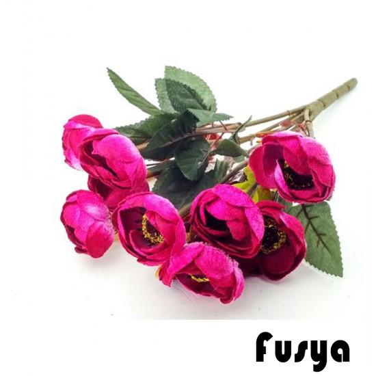 Çiçek Gelin El Buketi Şakayık Modeli Kadife