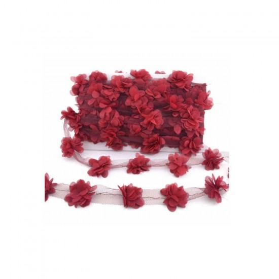 Lazer Kesim Tülden Çiçek (Şifon Çiçek) (10 Metre)