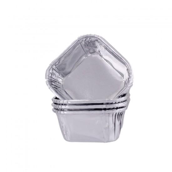 Sufle-Muffin Kek Kalıbı Kare Cupcake Kalıbı 75X75X35MM 22 li K111