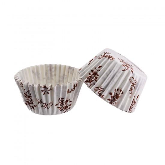Cupcake Kalıbı Pet Kapsül  Kek Kalıbı 48X34 MM (100 Adet)