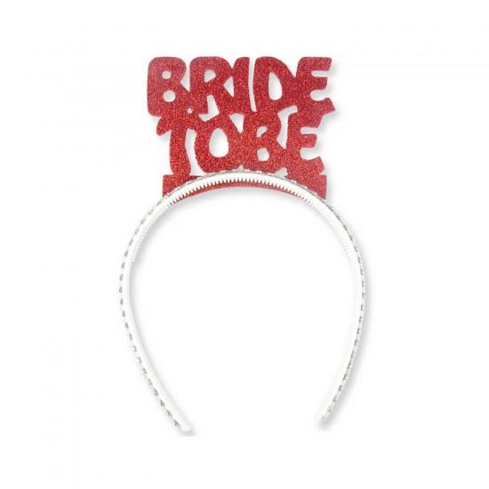 Evadan Taç Simli Kenarı Taş Süslemeli  Bride To Be Yazılı