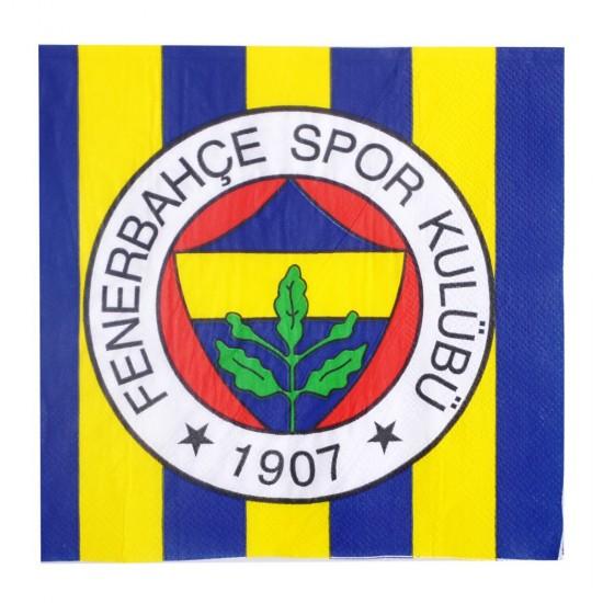 Fenerbahçe Temalı Taraftar Kağıt Peçete 33*33 (16 Adet)