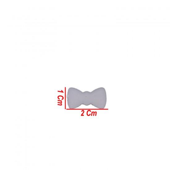 Polyester Fiyonk Hazır Papyon 1 CM X 2 CM (100 Adet)