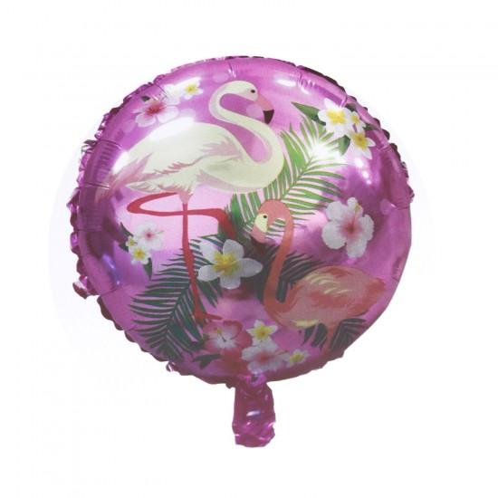 Flamingo Temalı Baskılı Folyo Balon
