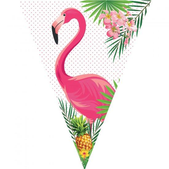 Flamingo Temalı Flama Bayrak Set