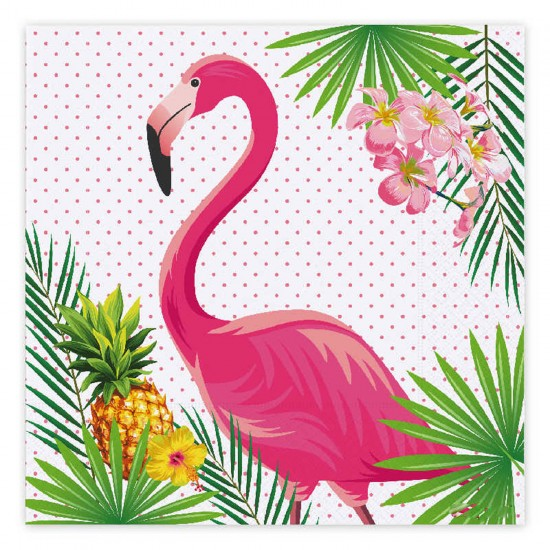 Flamingo Temalı Kağıt Peçete 33 CM X 33 CM  (16 Adet)