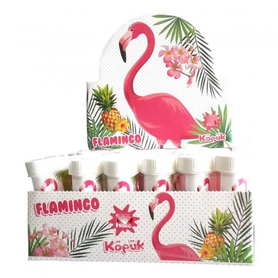 Flamingo Temalı Köpüklü Üflemeli Baloncuk