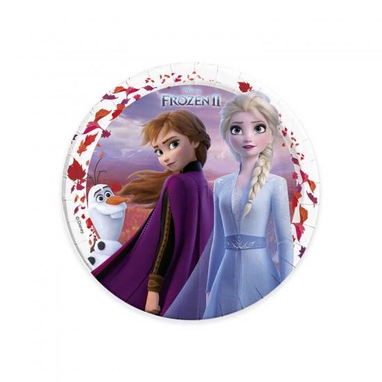 Frozen 2 Temalı Karton Tabak 23 CM (8 Adet)