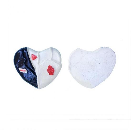Gelin Damat Kalp Yerli Polyester (50 Adet)