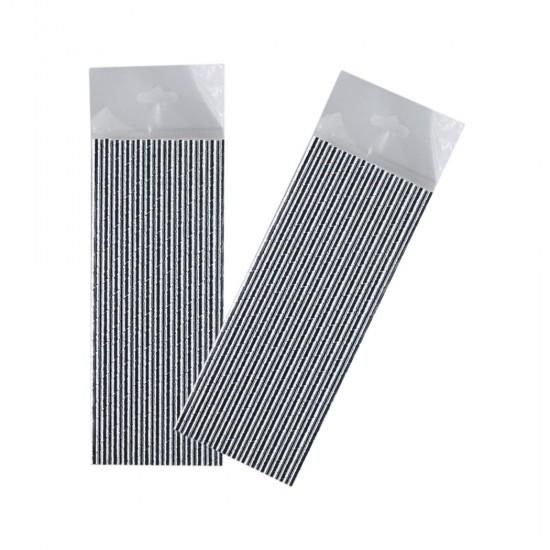 Gümüş Renkli Kağıt Pipet (25 Adet)