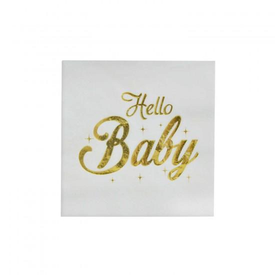 Hello Baby Temalı Kağıt Peçete 33X33 CM (16 Adet)