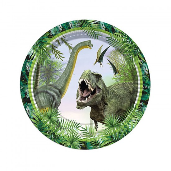 Jurassic Temalı Karton Tabak 23 CM (8 Adet)