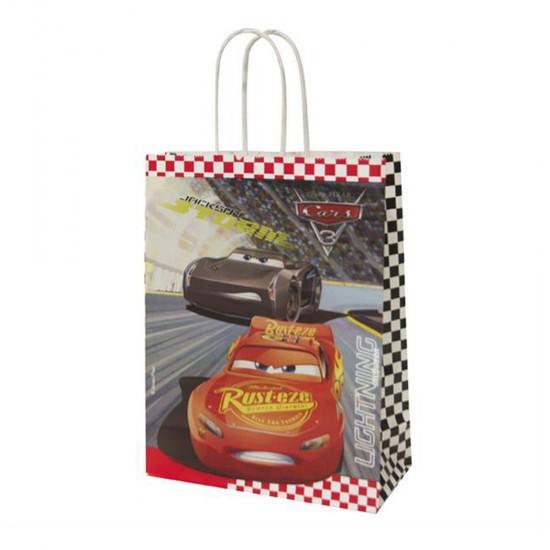 Cars Temalı Kağıt Parti Çantası (Şimşek Mcqueen) 18*24 (12 Adet)