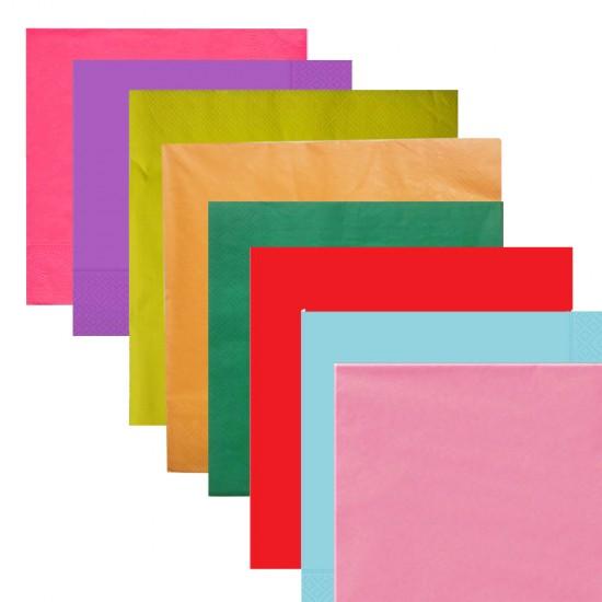 Kağıt Peçete Düz Renkli 33*33 (20 Adet)